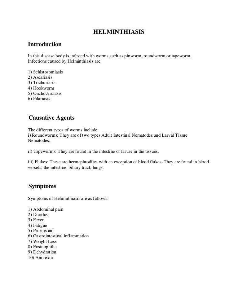 Helminths klinikai kezelés. A Magyarországon előforduló féregfertőzések